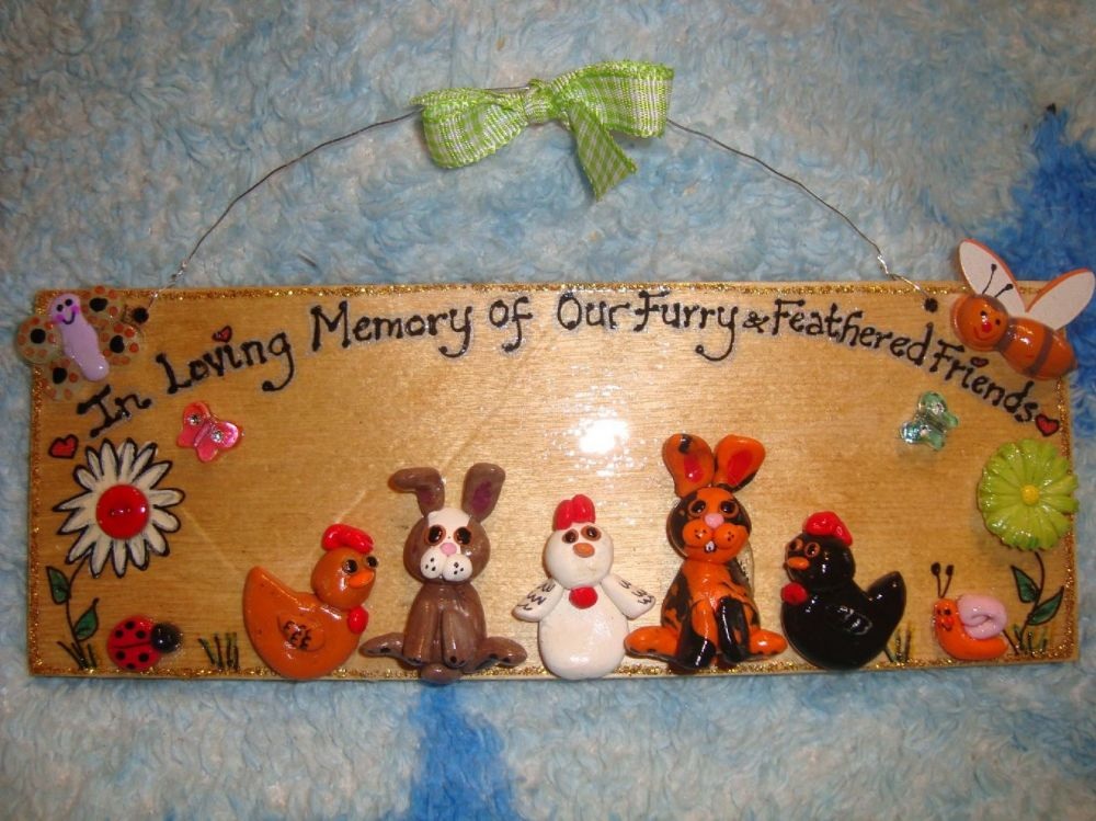 5 character 3d Animal Any Pet Memorial Sign Cat Dog Chicken Rabbit Guinea Pig ReptileSign Any Phrasing Personalised Plaque (1)